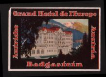 Hotel label luggage labels OLD Austria beautiful  #332